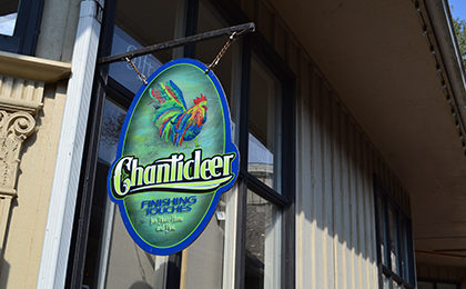 Chanticleer sign outfront the store