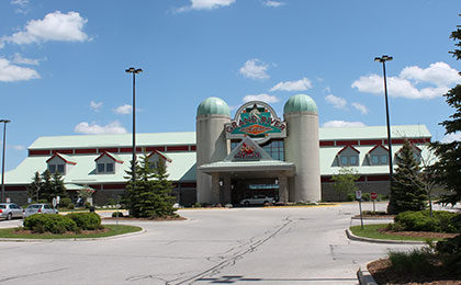 Industry Day, front shot of Grand River Raceway building