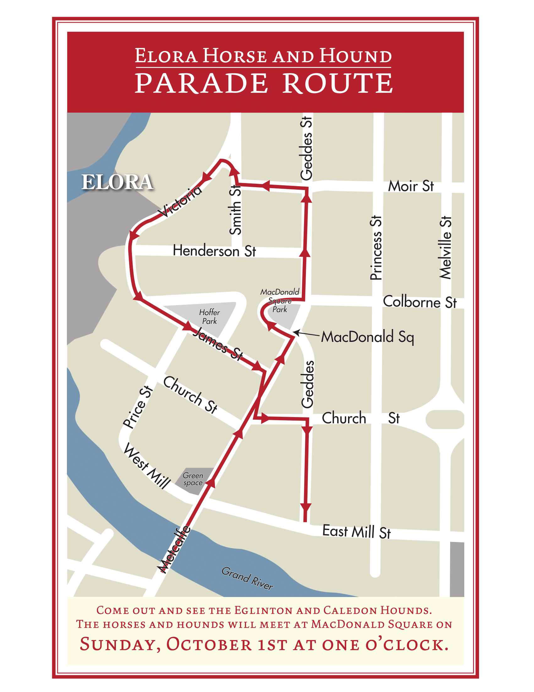 hourse and hound 2017 parade route