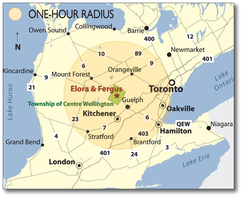Map Of Elora Ontario